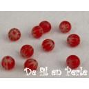 Perle 4mm Rouge lot de 10 perles