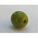 Perle 6mm Vert Pistache foncée - Lot de 10 perles
