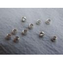 Perle à écraser 1.6mm métal argenté - 10