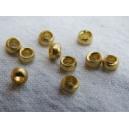 Perle à écraser 3mm métal doré - 10