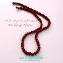 Perle à facettes 4x6 Rouge opaque