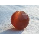 Perle à facettes ronde  8mm Caramel