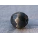 Perle à facettes ronde 8mm Gris Montana