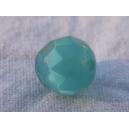 Perle à facettes ronde 8mm Indicolite (bleu/vert)