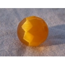 Perle à facettes ronde 8mm Safran