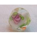 Perle baroque 12mm Blanc/cristal