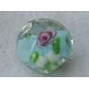 Perle baroque 12mm Bleu ciel/cristal