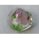 Perle baroque 12mm Rose pâle/cristal