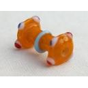 Perle bobine 22x10 Jaune Safran