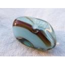 Perle caillou 18x10 Bleu Aigue-marine et marron