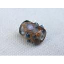 Perle cylindrique 6x9 Bleu Saphir clair
