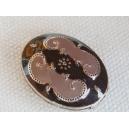 Perle émaillée 18x14 Chocolat et Taupe