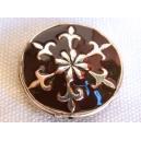 Perle émaillée 20mm Chocolat
