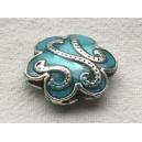 Perle émaillée 20x20 Turquoise