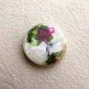 Perle en nacre 18mm Rose fuchsia