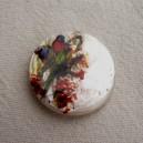 Perle en nacre 25mm Oiseaux