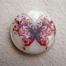 Perle en nacre 25mm Papillon
