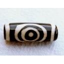 Perle en os teinté 24x8 spirale