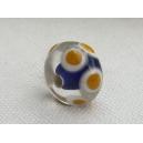 Perle intercalaire 12x9 Bleu Saphir/safran