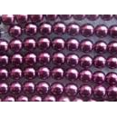 perle nacrée 4mm Aubergine fil de 120