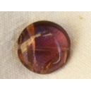 Perle plate aventurine 14x6 Améthyste