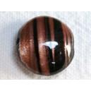 Perle plate aventurine 14x6 Noir