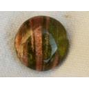 Perle plate aventurine 14x6 Vert Olivine