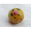 Perle ronde 10mm Jaune Maïs