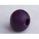 Perle ronde 11mm Prune