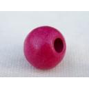 Perle ronde 11mm Rose Camélia