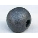 Perle ronde 14mm Gris Anthracite métallisé