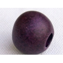 Perle ronde 14mm Prune