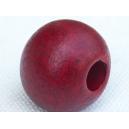 Perle ronde 14mm Rouge Magenta