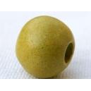 Perle ronde 14mm Vert Pistache