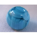 Perle ronde 15mm Bleu
