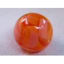 Perle ronde 15mm Orange