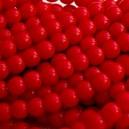 Perle 4mm Rouge corail - Lot de 50
