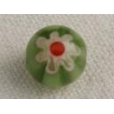 Perle ronde 7mm Vert