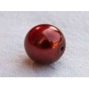 Perle ronde 8mm Rouille