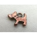 Petit chien 14x12 cuivré