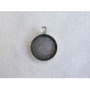 Plateau 10mm avec anneau vieil argent