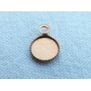 Plateau 6mm avec anneau cuivre brut