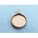 Plateau 8mm avec anneau cuivre brut