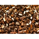 Rocaille 1/2 tubes facettés cuivre