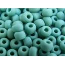 Rocaille Bleu Turquoise dépoli 5mm