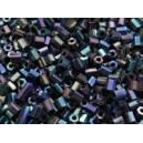 Rocaille Demi tube 2x1.5mm Noir Scarabé