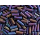 Rocaille tube 1.5x7mm Noir Scarabé dépoli