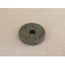 Rondelle 12mm Turquoise pierre (bleu/vert)