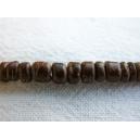 Rondelle coco 05mm Brun tigré - fil de 40cm