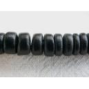 Rondelle coco 08mm Noir - Fil de 40cm